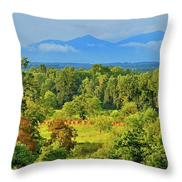 Peaks Of Otter Rainstorm Throw Pillow