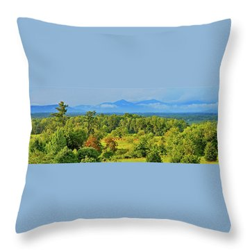 Peaks Of Otter Rainstorm Throw Pillow