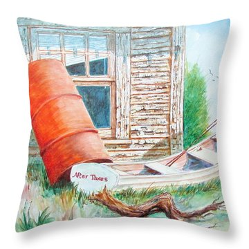 Pealing Paint Throw Pillow