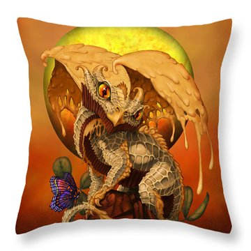 Peanut Butter Dragon Throw Pillow
