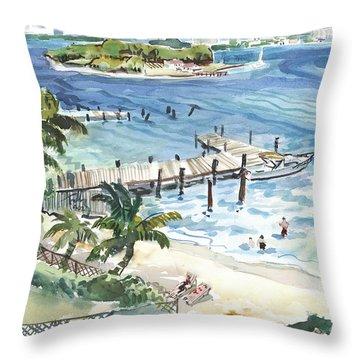 Peanut Island Throw Pillow