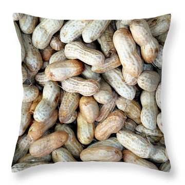 Peanuts On Sale At Fruit Market Throw Pillow