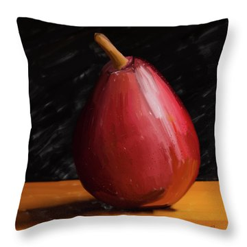 Pear 01 Throw Pillow by Wally Hampton