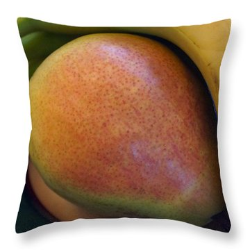 Pear And Banana Throw Pillow