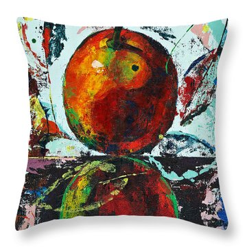 Pear And Reflection Throw Pillow