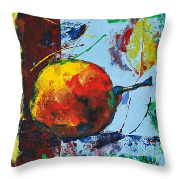Pear And Sun Throw Pillow
