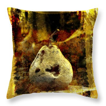 Pear Throw Pillow by Bernard Jaubert