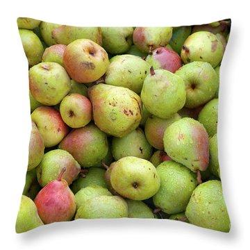 Pear Harvest Throw Pillow