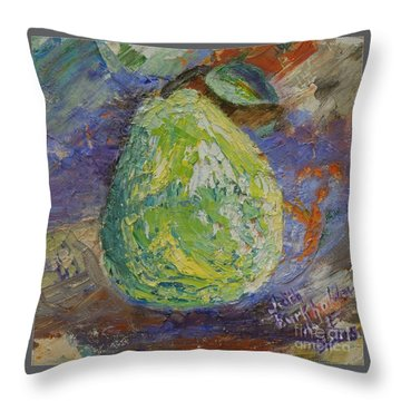 Pear On Lavender - Sold Throw Pillow