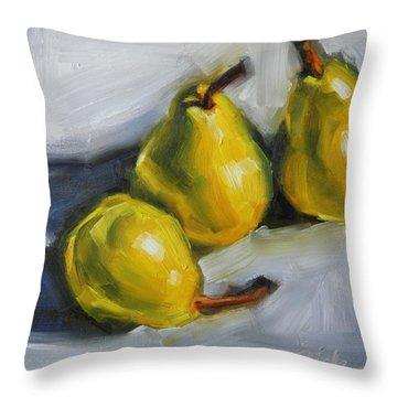 Pear Trio Throw Pillow
