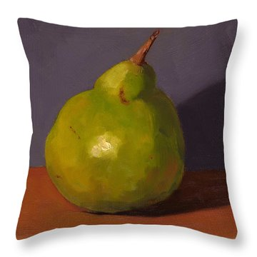 Pear With Gray Throw Pillow