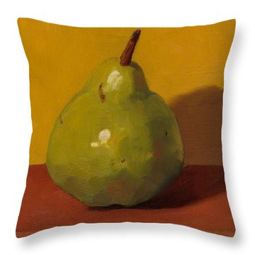Pear With Yellow Throw Pillow