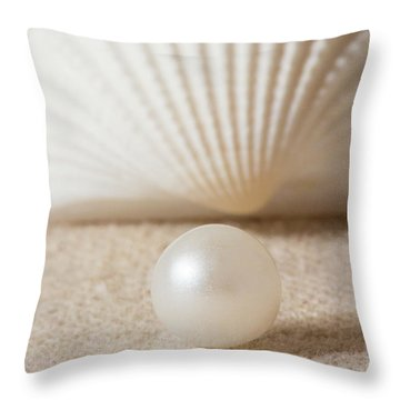 Pearl And Shell Throw Pillow