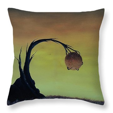 Throw Pillow featuring the painting Pearl by Edwin Alverio
