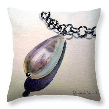 Pearl Throw Pillow by Irina Sztukowski