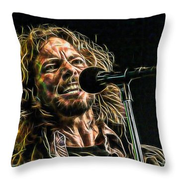 Pearl Jam Eddie Vedder Collection Throw Pillow by Marvin Blaine