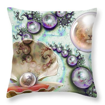 Throw Pillow featuring the digital art Pearl Of Great Price by Dolores Develde