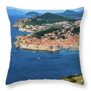 Pearl Of The Adriatic, Dubrovnik, Known As Kings Landing In Game Of Thrones, Dubrovnik, Croatia Throw Pillow