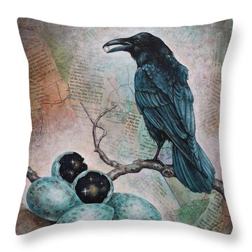 Pearl Of Wisdom Throw Pillow by Sheri Howe