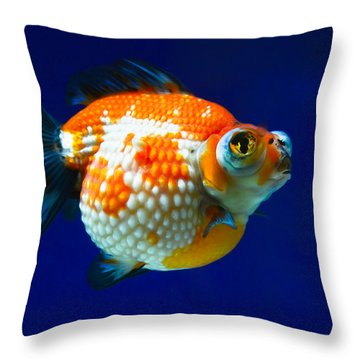 Pearl Scale Goldfish Throw Pillow