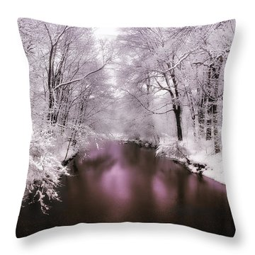 Pearlescent Throw Pillow by Jessica Jenney
