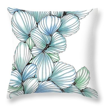 Pearlescent Plume Throw Pillow