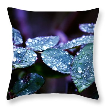 Pearls Of Nature Throw Pillow by Bernd Hau