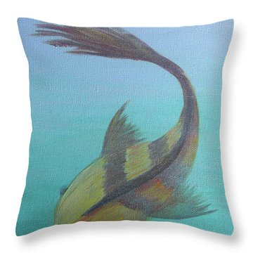 Pearly Fishy Throw Pillow