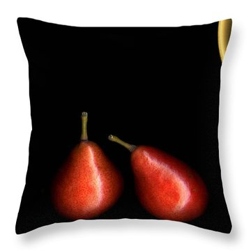 Pears And Bowl Throw Pillow
