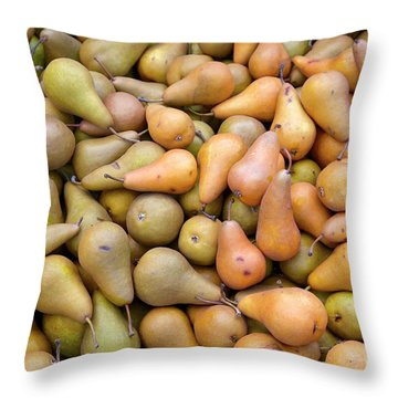 Pears At The Harvest Throw Pillow