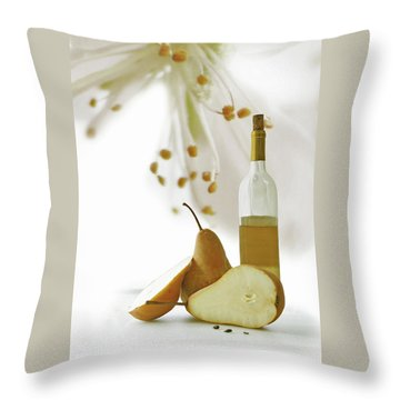 Pears Blossom Throw Pillow