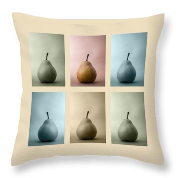 Pears Squared Throw Pillow