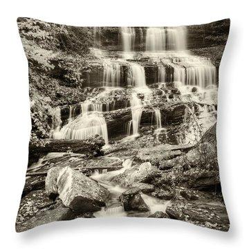 Pearsons Falls Throw Pillow by Joye Ardyn Durham