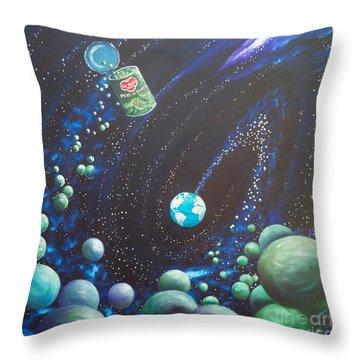 Blaa Kattproduksjoner       Peas On Earth Throw Pillow