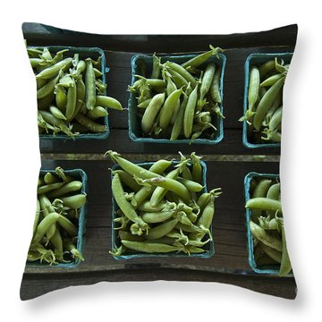 Peas Throw Pillow