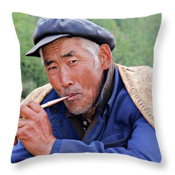Peasant Farmer Throw Pillow