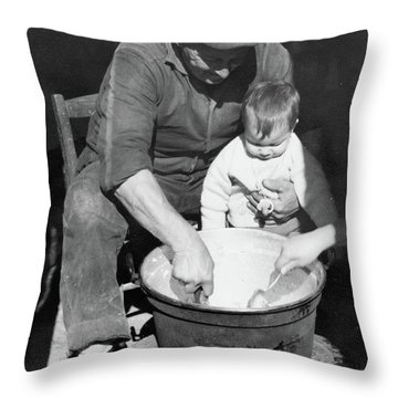 Peasant Life Throw Pillow