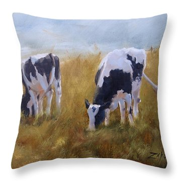 Peace On Earth Five Throw Pillow by Laura Lee Zanghetti