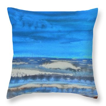 Throw Pillow featuring the painting Peau De Mer by Marc Philippe Joly