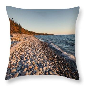 Pebble Beach Autumn    Throw Pillow