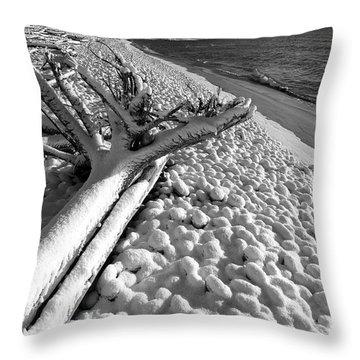 Pebble Beach Winter Throw Pillow