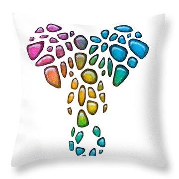 Pebble Elephant 1 Throw Pillow