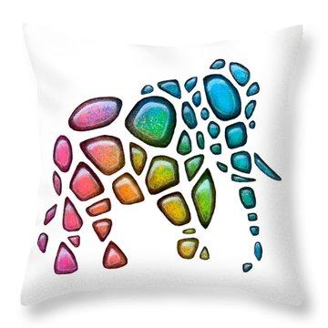 Pebble Elephant 2 Throw Pillow