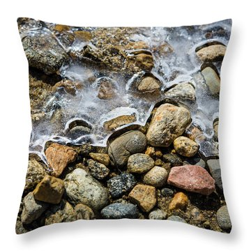 Pebbles And Ice Throw Pillow