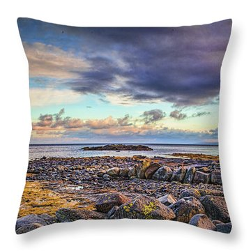 Pebbles And Sky  #h4 Throw Pillow