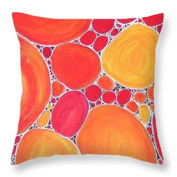 Pebbles At Sunset  Throw Pillow