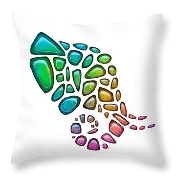 Pebbles Elephant 3 Throw Pillow