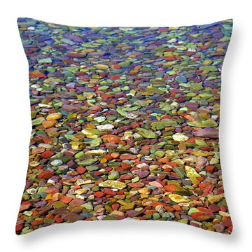 Pebbles Throw Pillow by Marty Koch