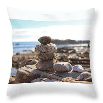 Peceful Zen Rocks Throw Pillow