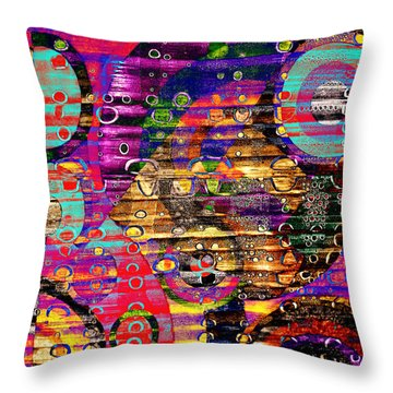 Peck's Party Throw Pillow